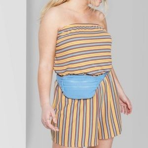 Wild Fable NWOT striped yellow romper